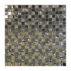 "11.81""x11.81"" Silvo Square Mirror Glass Mosaic Bath Bar Backsplash Tile"