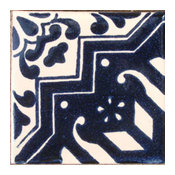 "4""x4"" Mexican Ceramic Handmade Tile #C072"