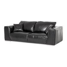 Emma Mason Signature Mirabel Sophia Leather Standard Sofa In Onyx