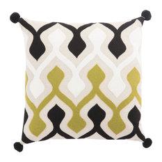 "Nikki Chu by Jaipur Living Ophelia Green/Ivory Graphic Down Throw Pillow 22"""