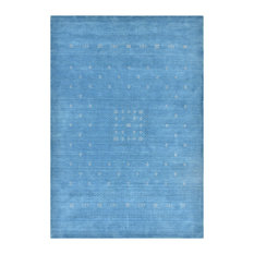 Simi Hand Knotted Area Rug, Sapphire, 5'x8'