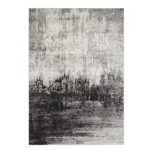 Nova Rectangular Rug, White and Black, 120x170 cm