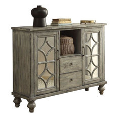 Acme Velika 2 Drawer Console Table Weathered Gray