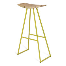 Robert Inlay Bar Stool, Yellow, Maple