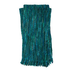 """Thea Throw, Teal and Teal, 4'2""""x5'"""