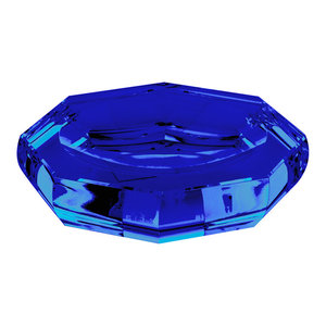 Crystal Glass Countertop Soap Dish, Blue