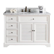"48"" Single Sink Vanity With Carrara White Marble Top"