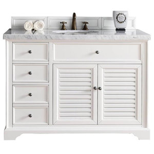 48 in. Single Sink Vanity with Carrara White Marble Top