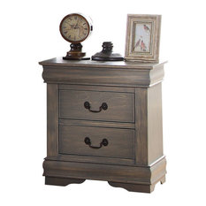Acme Louis Philippe Nightstand Antique Gray