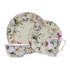 1st Avenue - Gisela 16-Piece Fine China Dinnerware Set Cream - Dinnerware Sets  sc 1 st  Houzz & Most Popular Transitional Dinnerware Sets for 2018 | Houzz