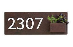 South 1st Address Plaque, Rust