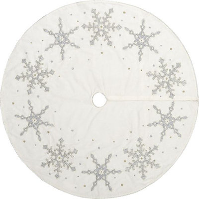 contemporary christmas tree skirts by crate amp barrel