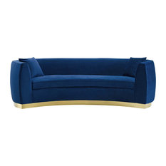 Modway Resolute Curved Performance Velvet Sofa EEI-3408-NAV
