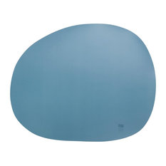 Raw Non-Slip Silicone Placemats, Blue, Set of 4