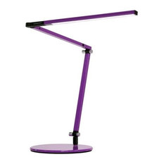 Z-Bar Mini Desk Lamp With Base, Warm Light, Purple
