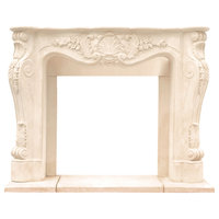 Historic Mantels CL14002 Chateau Series LouisxIII Cast Stone Fireplace Mantel