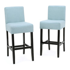 Superieur GDFStudio   Ester Fabric Bar Stools, Set Of 2, Sky Blue   Bar Stools