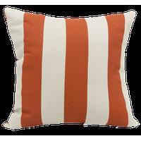 Burnt Orange Vertical Stripe Extra Large Pillow 24x24