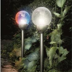 Solar Ice Ball Orb Border Light   Path Lights