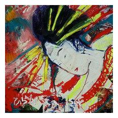 "Red Geisha Original Mixed Media Artwork 24""x24"" by Matt Pecson"