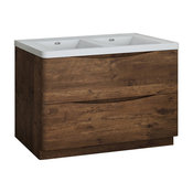 """Fresca Tuscany 48"""" Rosewood Cabinet With Integrated Double Sink"""