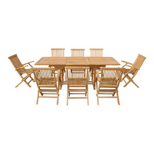 Java 9-Piece Table and Garden Chair Set