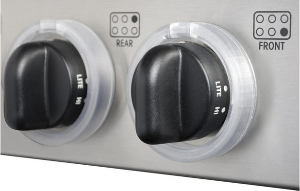 Traditional Baby Gates And Child Safety Kid Kusion Clearly Safe Stove Knob Locks, 5 pack