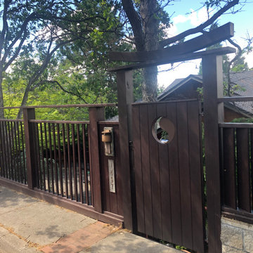 Asian Influenced Gate + Fence