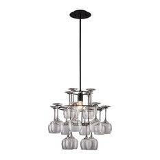 Elk Lighting 14040/1 Vintage Transitional Chandelier in Dark Rust