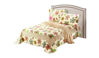 Tache 3-Piece Floral Rainbow Blooms Reversible Bedspread Set, Full