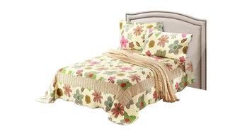 Tache 3-Piece Floral Rainbow Blooms Reversible Bedspread Set, Full