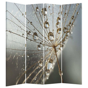 Modern Stylish Folding Room Divider, MDF With Nature Water Drop Design