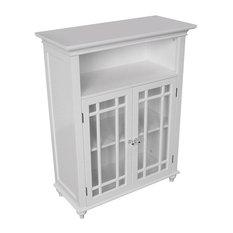 Classic White Wood 2-Door Bathroom