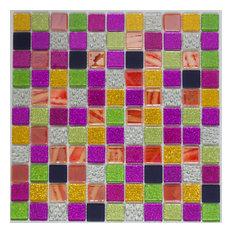 "12""x12"" Exotica Glass Mosaic Tile Blend, Full Sheet"