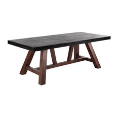 ConcreteTop Dining Room Tables Houzz - Concrete dining room table