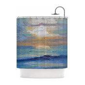 "Carol Schiff ""Ocean Sunset ""Shower Curtain, 69""x70"""