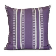 """Purple Dashing Stripe, Stripe Print Pillow, 18""""x18"""""""
