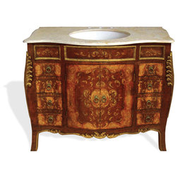 New Traditional Bathroom Vanities And Sink Consoles by Lutina Old World Furniture