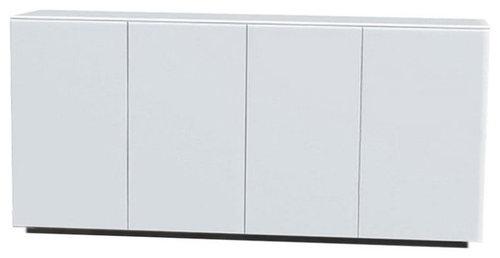 Arctic 40 Sideboard 4D, Vit/Vit Sockel - Opbevaringsskabe