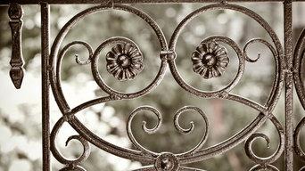 Decorative gate element wrought iron - élément portail en fer forgé - Montréal W