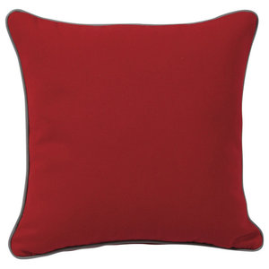 Pulse Square Scatter Cushion, Red