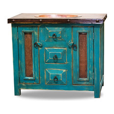 "FoxDen Decor - Rustic Vanity With Drop in Sink, 36""x20""x36"" - Bathroom Vanities and Sink Consoles"