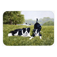 Let's Play Border Collie Glass Cutting Board, Large