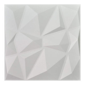 323 sq ft 3D Wall Plant Fiber Panels Diamond Design wall Art Decorative 120PCS