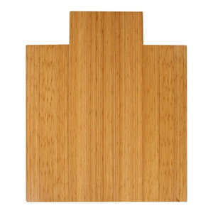 """Bamboo Roll-Up Chairmat, 44""""x52"""", With Lip, Natural"""