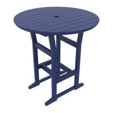 "Cafe Fusion 40"" Round Bar Table, Navy"