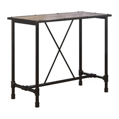Caitlin Bar Table, Rustic Oak and Black Finish