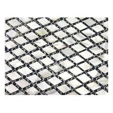 Walls Tiles Mother Of Pearl Shell Backsplash Diamond Rectangle Decor Tile