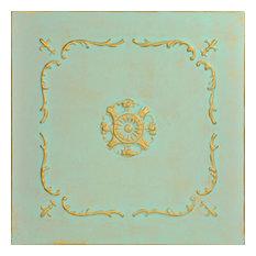 """20""""x20"""" Bourbon Street, Styrofoam Ceiling Tile, Gold Moss"""