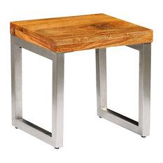 Sheesham Wood Coffee Table Vintage Side Table Rustic End Furniture Living Room
